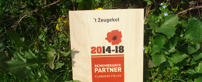 Remembrance Partner van Flanders Fields 2014 - 2018
